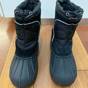 Sporto winter/snow boots for boy in black Size 4-5